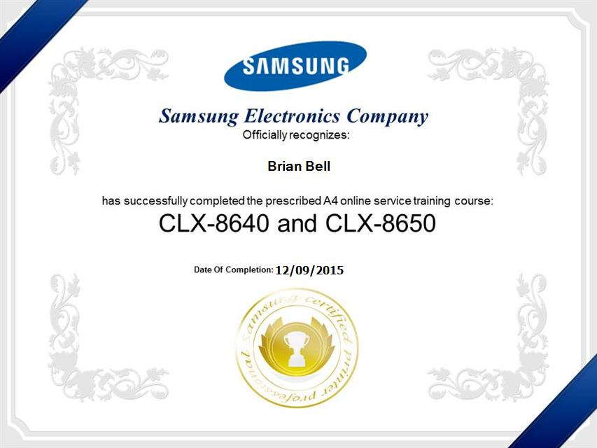 Samsung Certifications
